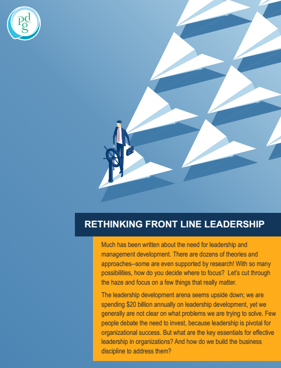 Rethinking Front Line Leadership